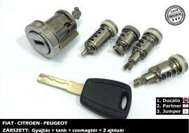 FIAT zárszett + kulcs típus-2