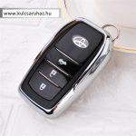 Toyota : Land Cruiser / Hilux / Camry / Fortuner - SMART - Kulcsvédő Tok Ezüst