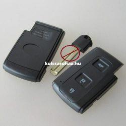 TOYOTA 3 gombos smart kulcsház