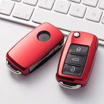 Volkswagen ( VW ) / Seat / Skoda - Bicska - Kulcsvédő Tok PIROS