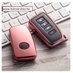 Lexus : NX / IS / ES / GS / GX / RC / RX / LS / LX - SMART - Kulcsvédő Tok RÓZSASZÍN / PINK
