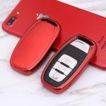 Audi : Smart - Kulcsvédő Tok PIROS