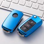 Volkswagen ( VW ) / Seat / Skoda - Bicska - Kulcsvédő Tok KÉK