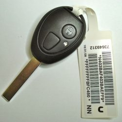 Mini Hatch / Mg ZT 2 gombos 433 mhz PCF7935 HU92R