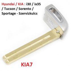 Hyundai KIA : i30 ix30 Tucson - Szervizkulcs KIA7