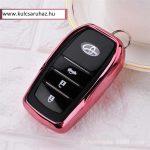 Toyota : Land Cruiser / Hilux / Camry / Fortuner - SMART - Kulcsvédő Tok Pink