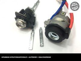 HYUNDAI zárszett + kulcsszárak típus-4