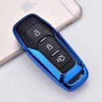 Ford : Edge / Mondeo / S-Max / Mustang / Fusion / Explorer / F-150 - Smart - Kulcsvédő Tok KÉK