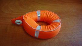 Kulcstartó Mentőöv 10cm (Merülésgátló szivacs, Neon narancs színben)
