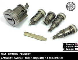 FIAT zárszett + kulcsszár típus-3