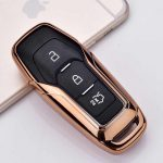 Ford : Edge / Mondeo / S-Max / Mustang / Fusion / Explorer / F-150 - Smart - Kulcsvédő Tok ARANY