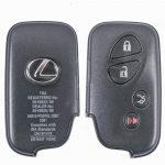 GYÁRI Lexus : RX350 / LX570 - 3 + 1 gombos 433 mhz TMS37126 ( 80 Bit ) SZABADKEZES / KEYLESS GO