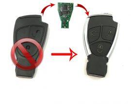 3 gombos kulcs átalakító (ÚJ króm külső)