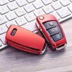 Audi : Vitorla alakú - Kulcsvédő Tok PIROS