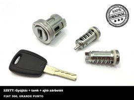 FIAT 500 / GRANDE PUNTO zárszett + kulcs