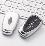 Chevrolet : Blazer / Bolt / Sonic / Malibu / Camaro / Cruze / Traverse / Trailblazer / Trax / Equinox / Spark / Volt - SMART - Kulcsvédő Tok EZÜST