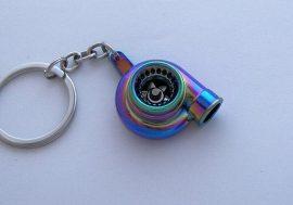 Neon színű TURBO kulcstartó