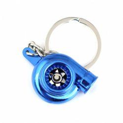Neon kék TURBO kulcstartó