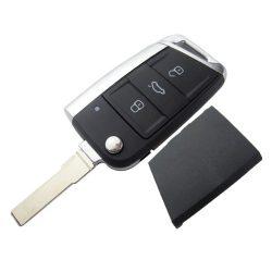 Volkswagen Golf 7 - 3 gombos Kulcsház